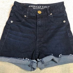 American Eagle Outfitters Dark Wash Jean Shorts